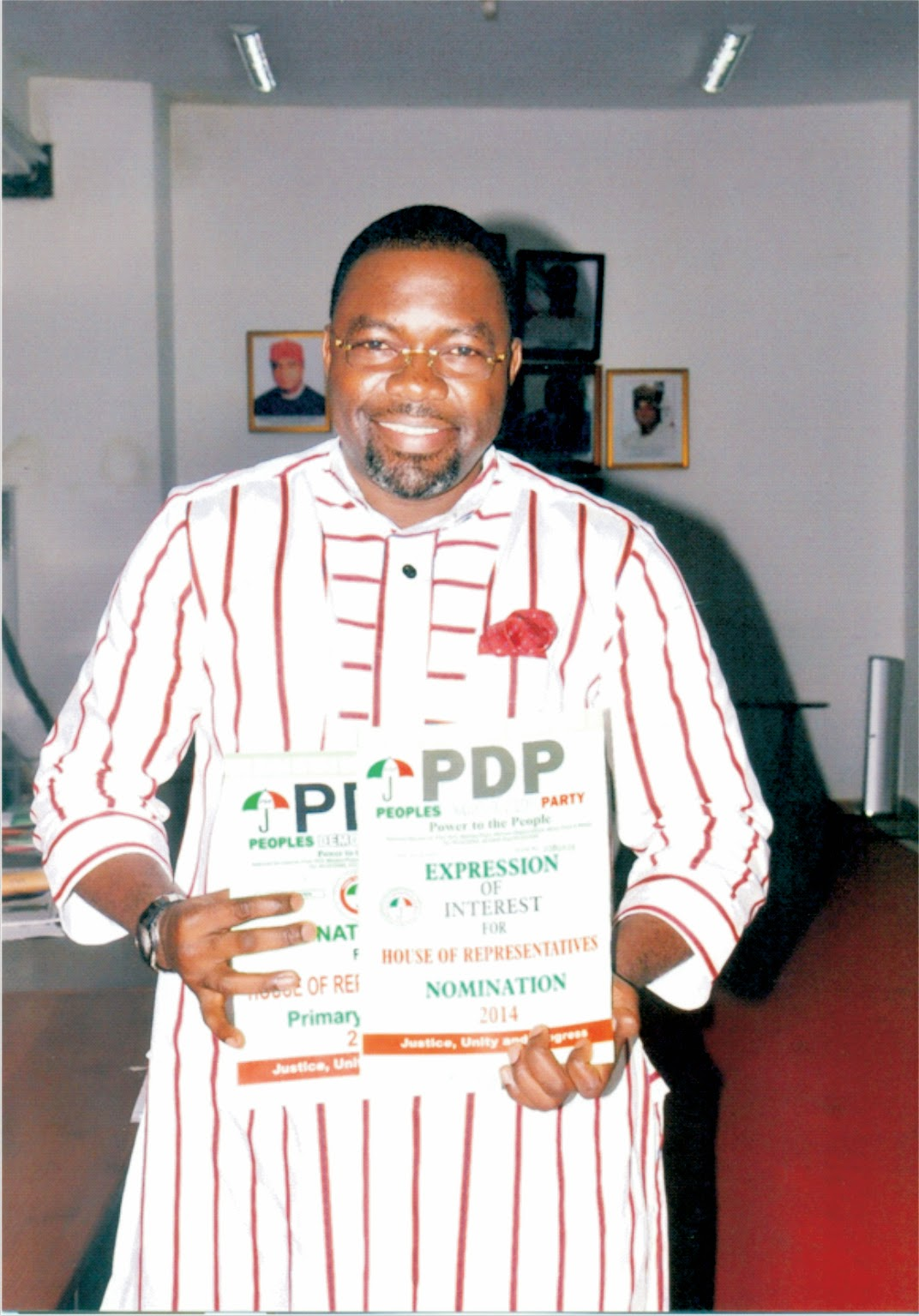 National Assembly 2015: David Etuk picks PDP nomination form