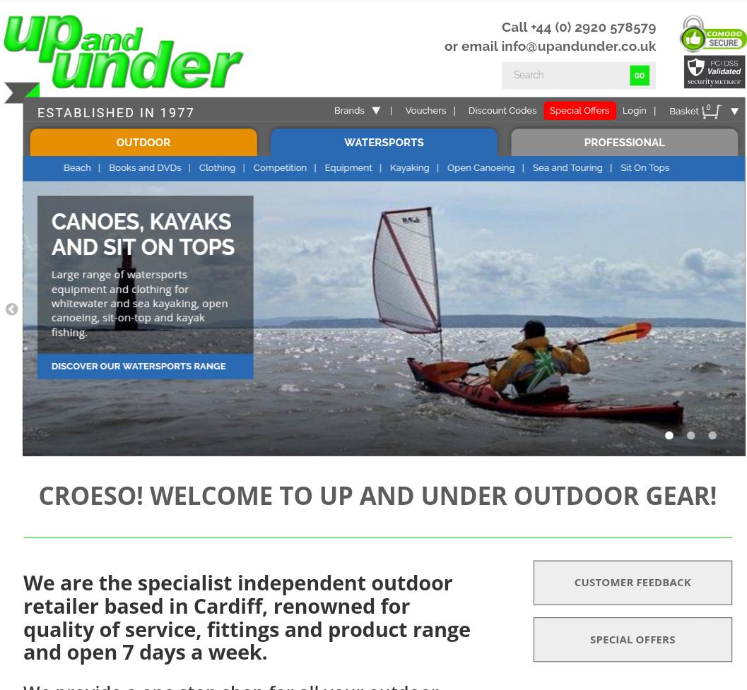 Up&Under Outdoor Retailer Cardiff