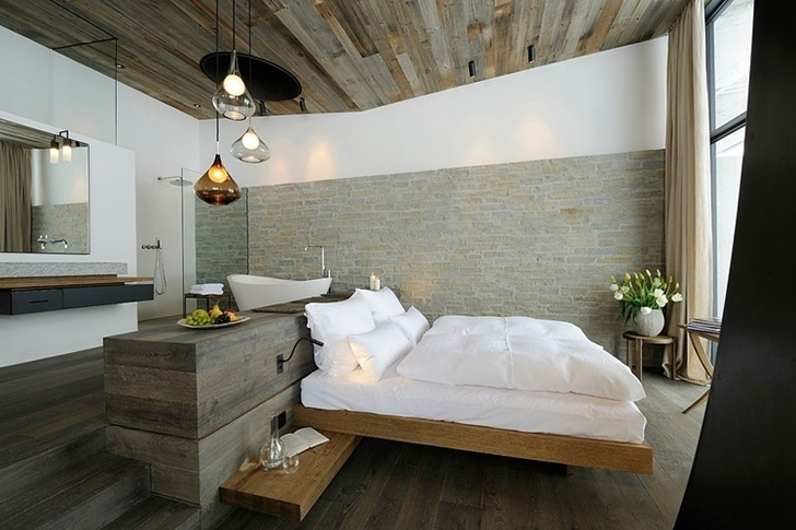 Modern bedroom in Boutique Hotel, Austria