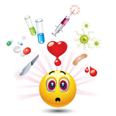 Emoticon with medicine on the mind
