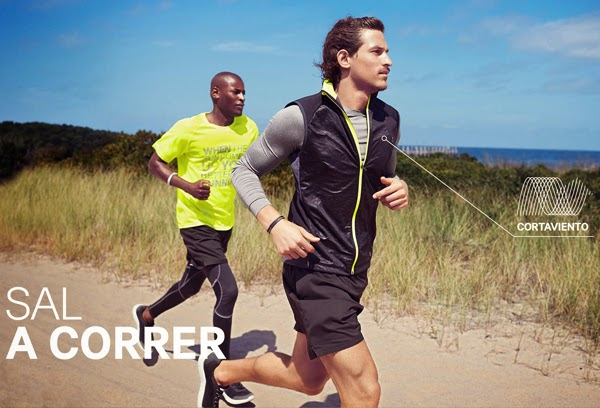 moda deportiva hombre H&M camisetas pantalones mallas para correr