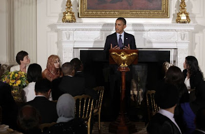 This is what the atmosphere of Fasting With Obama at the White House.