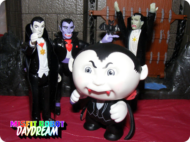 ReAction Dracula, Socket Poppers Dracula, Remco Dracula, and Nasty Nick