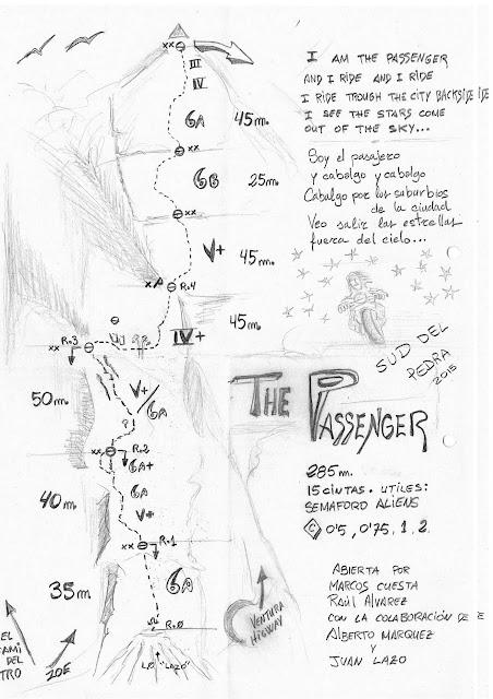 The Pasanger , cara sur del Pedraforca. Croquis%2BPassenger
