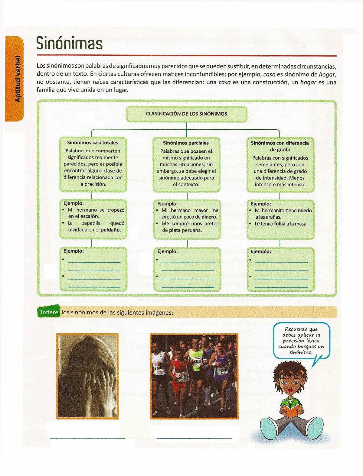Clasificación de Sinónimos y Ejemplos | Razonamiento Verbal - photo#20