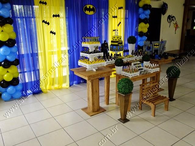 decoração festa infantil batman rústico porto alegre