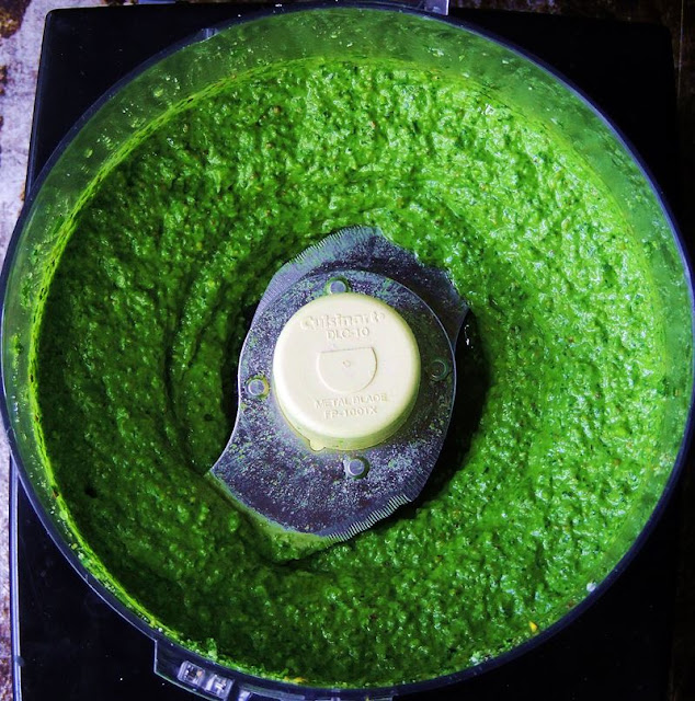 Spinach and Pistachio Pesto from www.bobbiskozykitchen.com