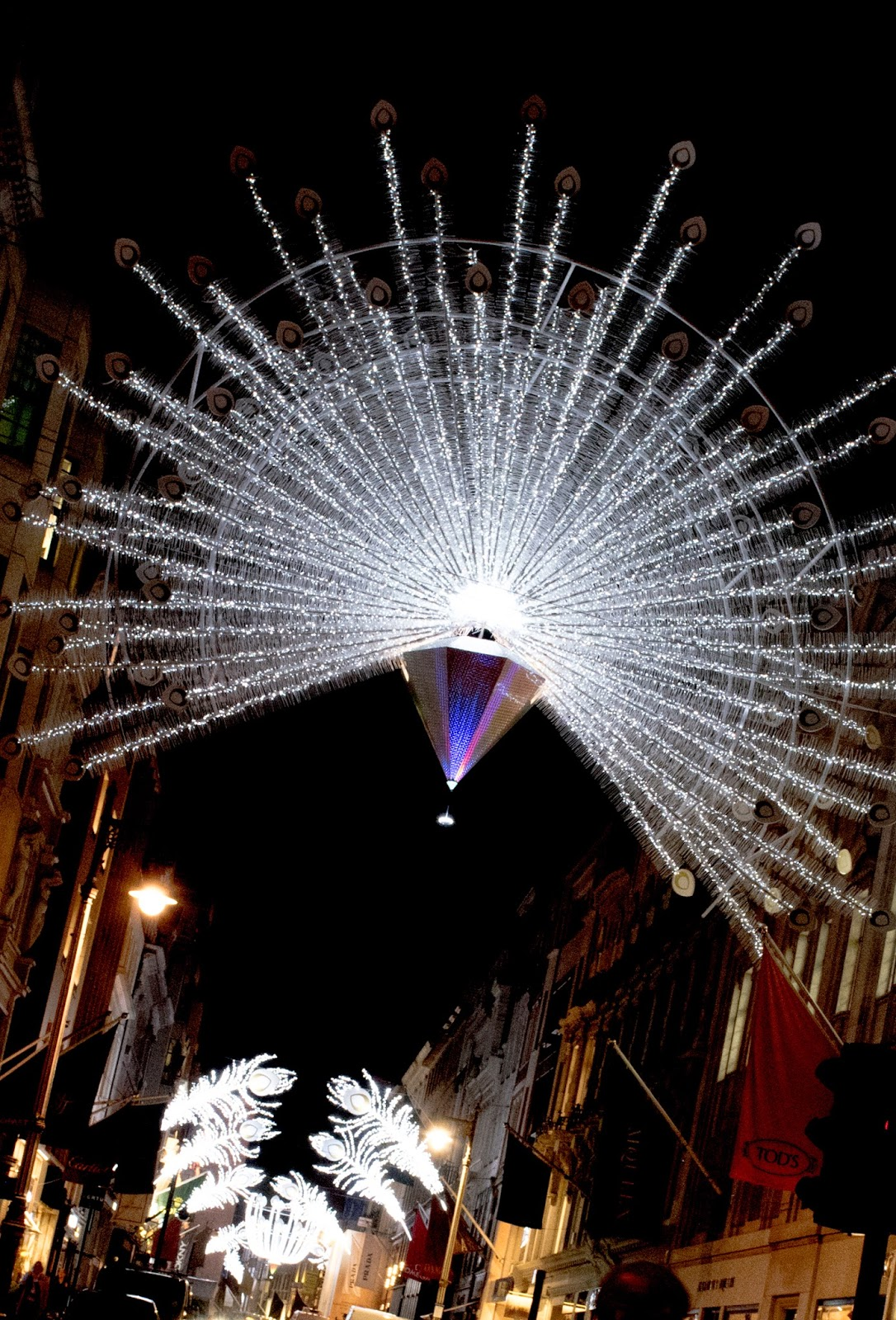 Bond Street in London. 2014 Christmas Illuminations