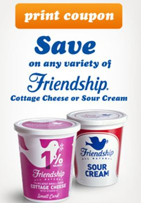 graphic about Friendship Coupons Printable identified as Printable discount coupons for friendship cottage cheese - Fin enjoyment
