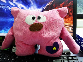 #handmade #diy #pinky #plush #softtoy #monster