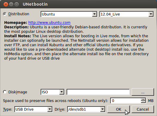 how to make a bootable live usb