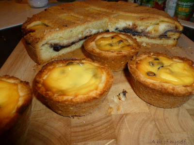 tart with ricotta and sour cherry jam