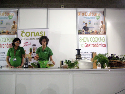 Show Cooking Biocultura Conasi Dr. Odile Fernández.