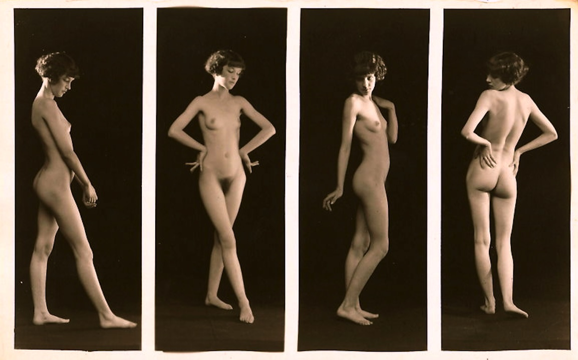 Nude female figure studies