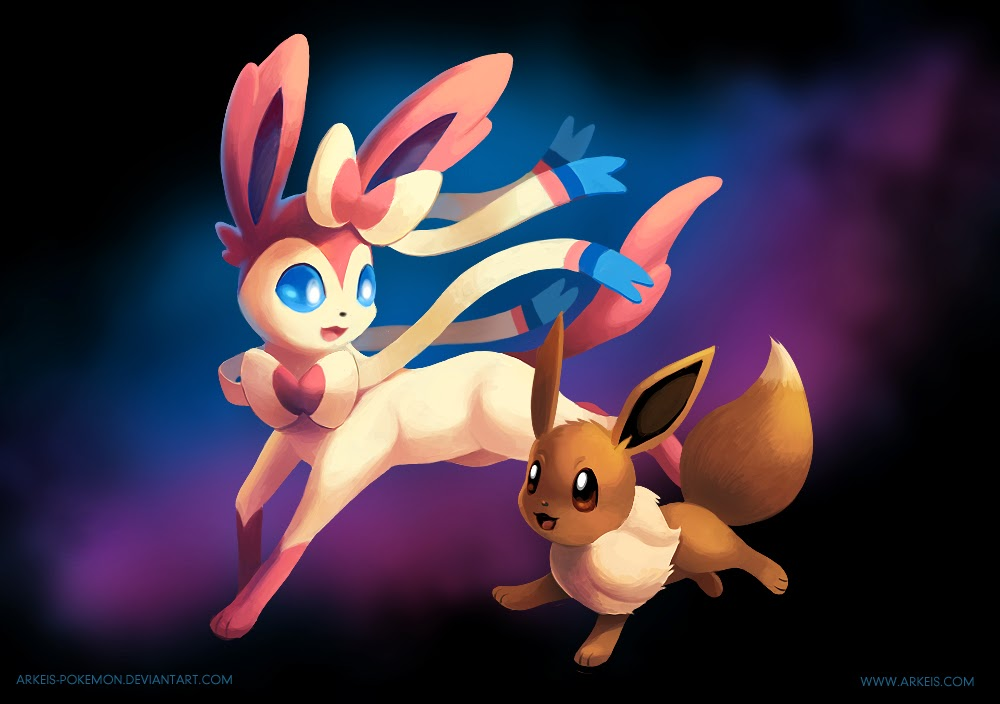 Sylveon And Eevee Pokemon HD Wallpapers