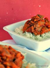 To κοκκινιστό του χορτοφάγου: Πλευρώτους με μπασμάτι- Oyster mushroom basmati