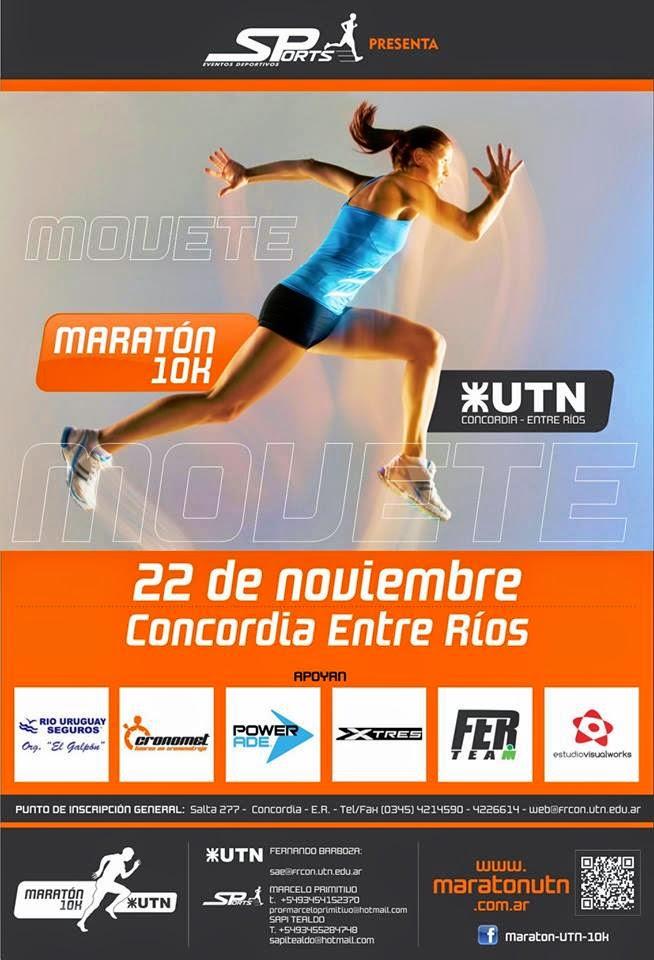Maratón UTN 10km Concordia Entre Rios