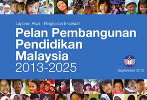 Pelan Pembangunan Pendidikan Malaysia Dilancar Esok