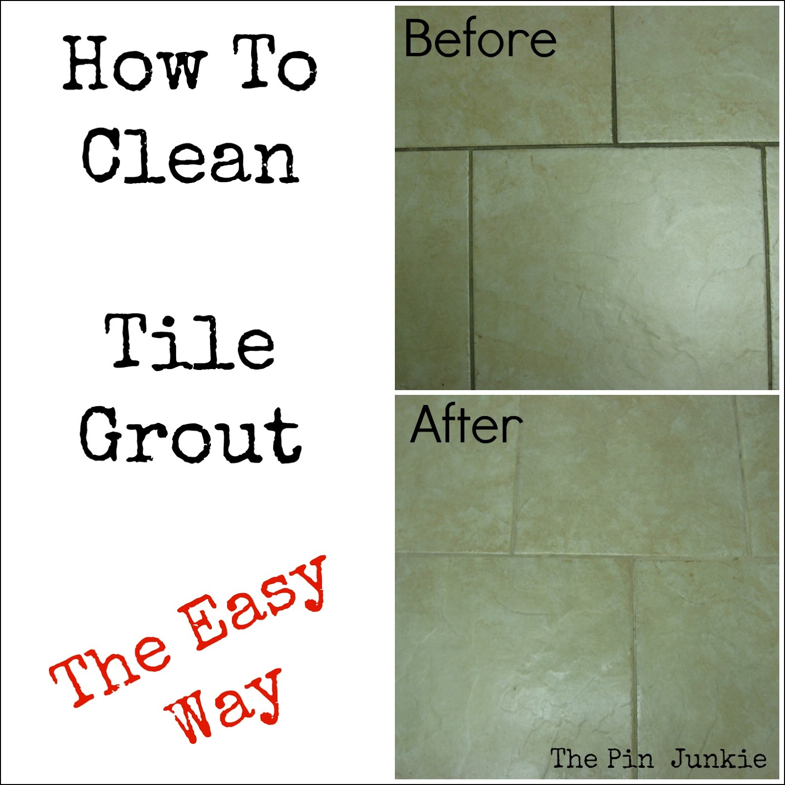 Black Floor Tile Grout Ready Mixed One Dirty Old Grout Before
