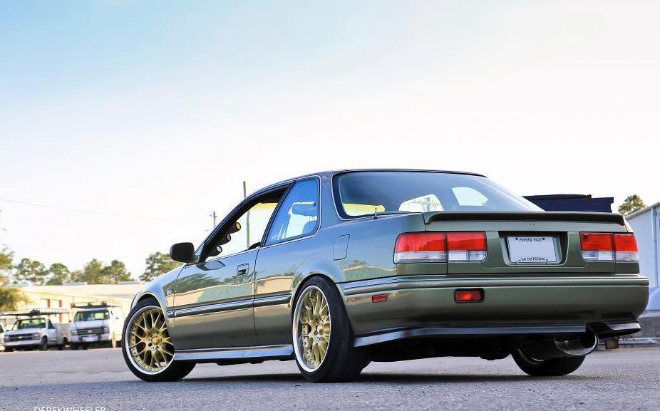 Honda Accord, fajne coupe, cb, tuning, złote felgi, jdm, usdm, japoński samochód