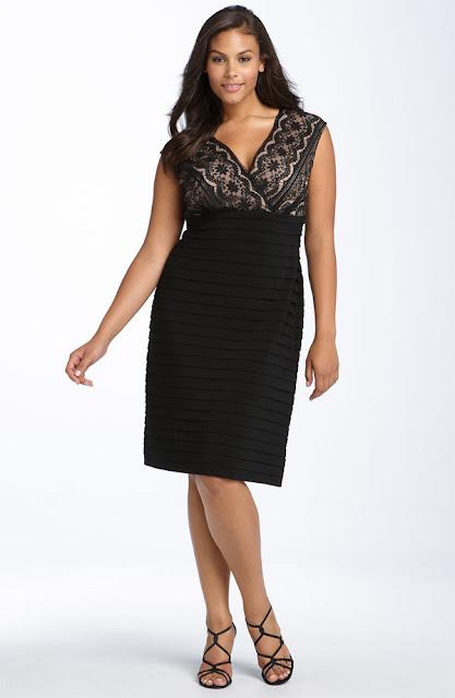 Modelos de vestidos para gordas - Festa