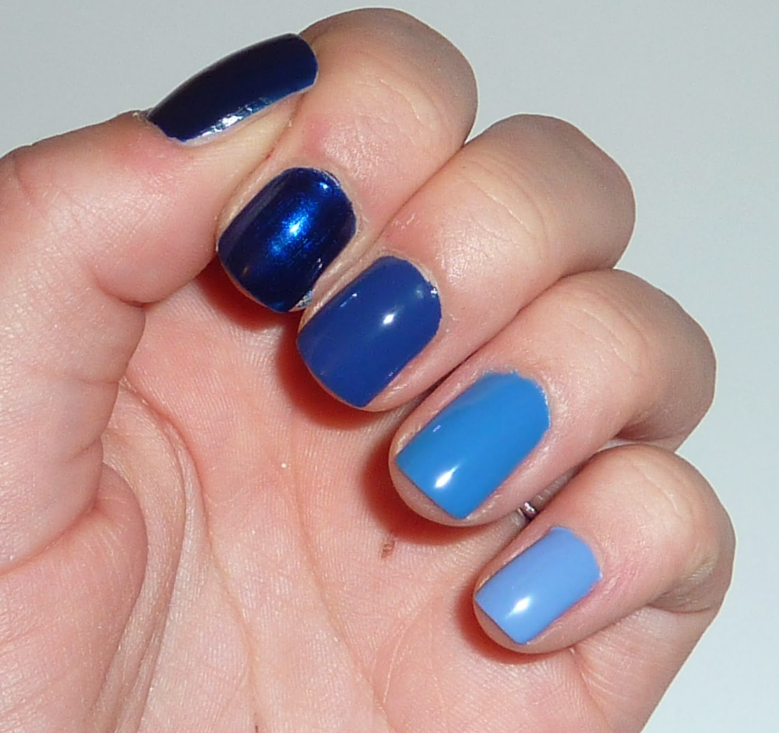 Rs Nail: FING'RS BLUE OMBRE NAIL SET REVIEW