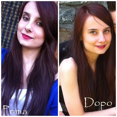 Colore capelli rosso amarena