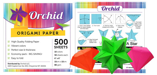 Oma Loves U Orchid Origami Paper Folding Sheets 500 Sheets