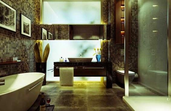 contoh gambar dan desain kamar mandi mewah minimalis bisa mandi uap