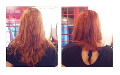 Marie, de dos, avant et après visite au Studio 54, coiffure et couleur réalisées par Eddy, coiffeur - visagiste à Montpellier.