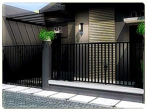 Gambar Pagar   Desain Pagar Desain Rumah Minimalis