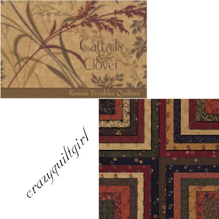 Moda CATTAILS & CLOVER Quilt Fabric by Kansas Troubles Quilters