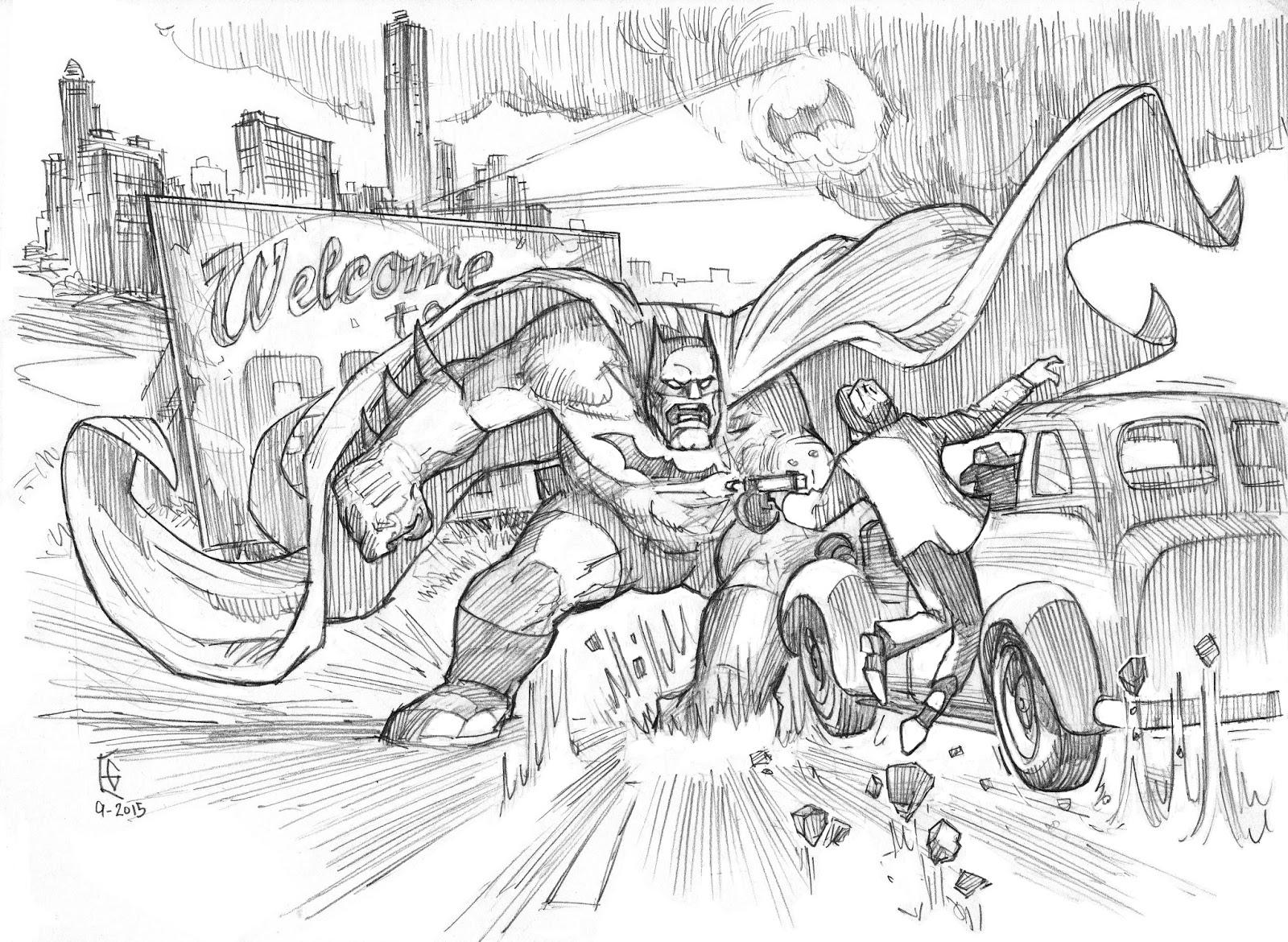 Bat Hulk Pencil Finish Retouched