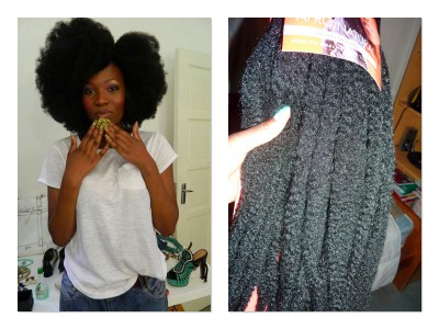 Crochet Hair Afro : Crochet Braids Afro Cheveu Naturel 400x300