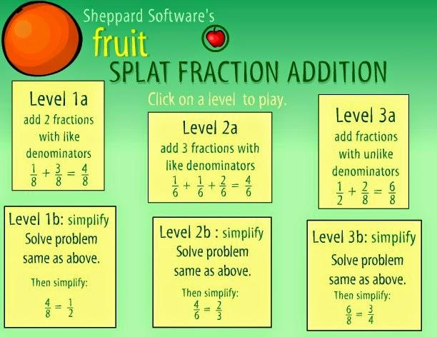 http://www.sheppardsoftware.com/mathgames/fractions/FruitShootFractionsAddition.htm