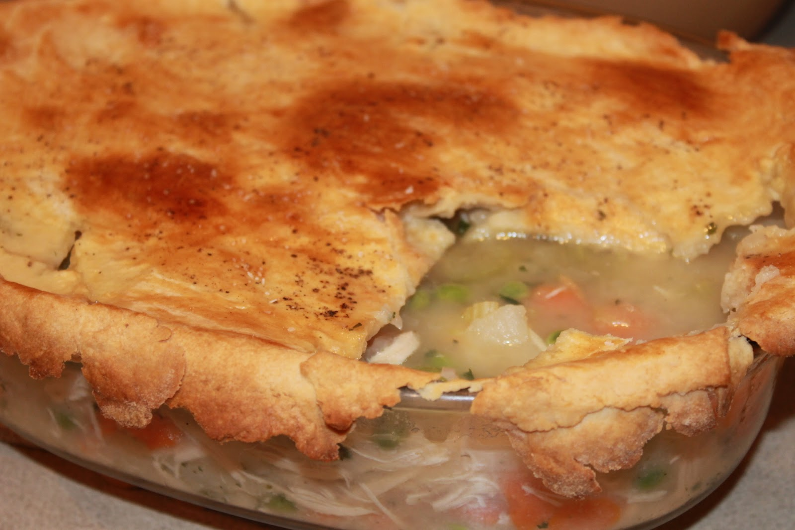 Seizing Life, One Measuring Cup At A Time: Light Chicken Pot Pie