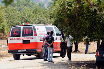 Palestino atingido por bala é removido ao hospital