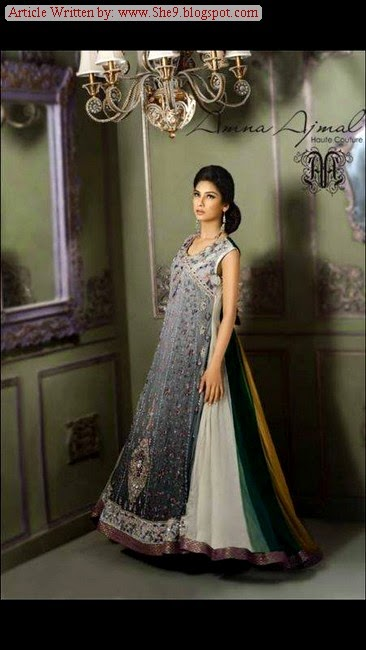 Amna Ajmal Bridal Formal Dress Collection 2014