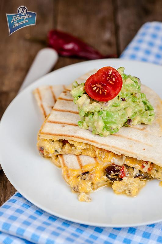 Quesadilla z jajecznicą przepis