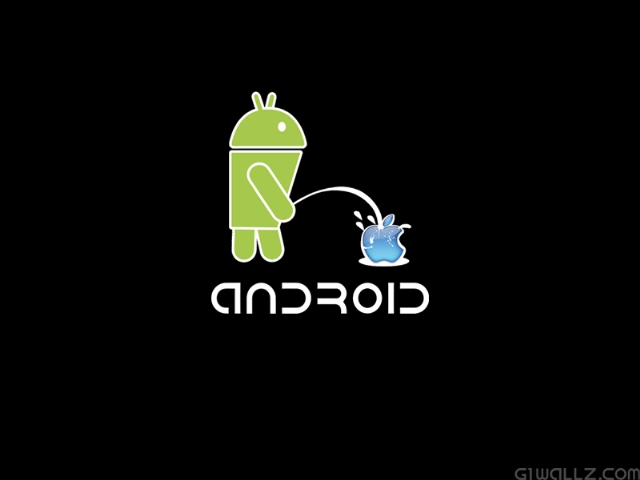 Android vs Apple – Funny Wallpapers for Android Fans