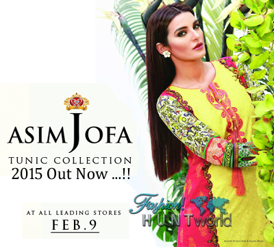 Tunic Collection 2015 By Asim Jofa - Ultra Chic Tunic Designs For Girls