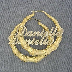Bamboo Name Earrings8