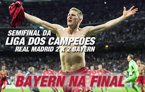 Real Madrid 2 x 1 Bayern. Bayern na final