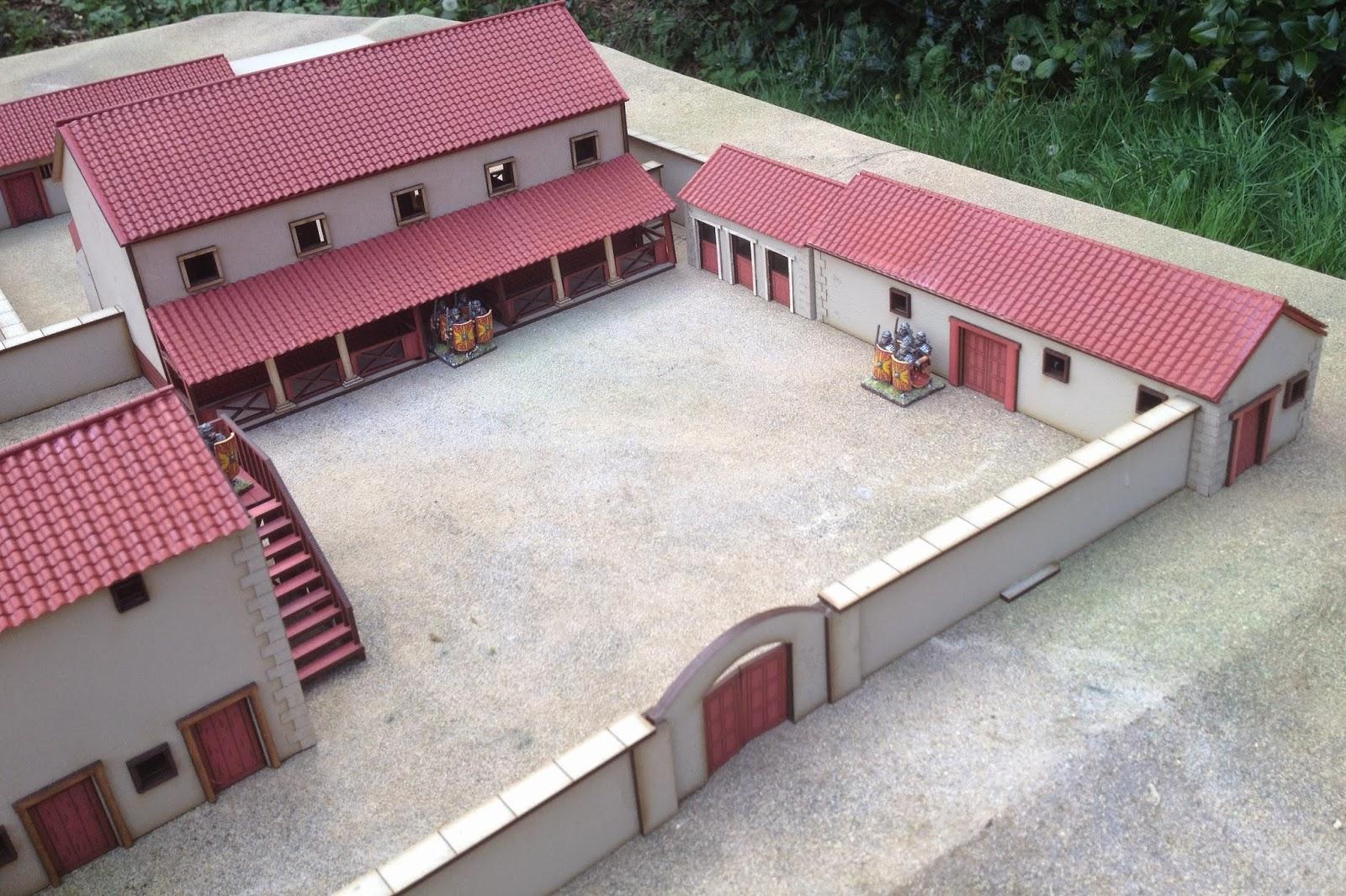 how to make a roman villa model