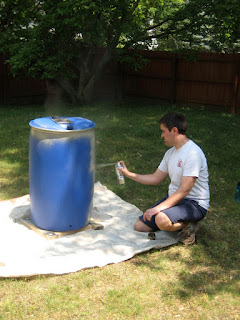 DIY Rain Barrel Paint