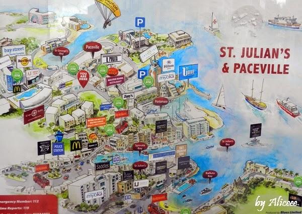 St-julians-malta-harta-turistica