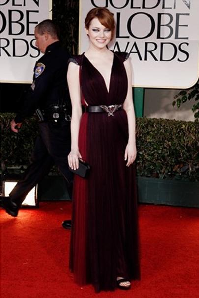 Emma Stone Elegant Dress Style