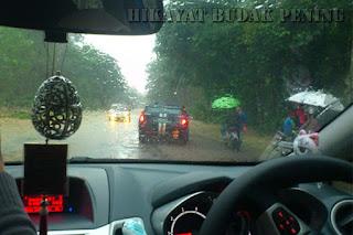 laluan ditutup, banjir, sungai golok melimpah