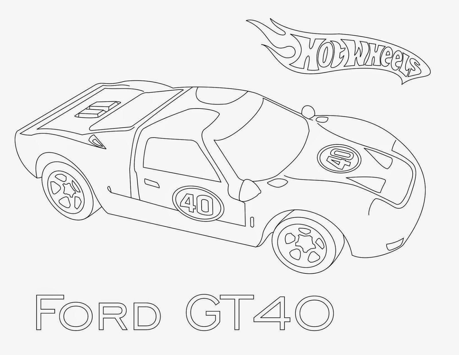 Hot Wheels Coloring Pages 46
