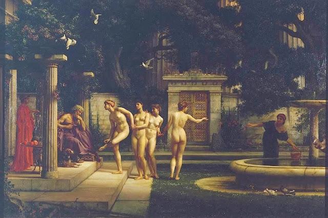 edward poynter,aesculapius, greek painting